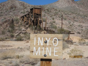 Inyo mine on Echo Canyon in Death Valley