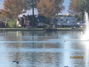 shot across the lake towards our RV spot