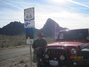 Route 66 just outside Oatman Arizona