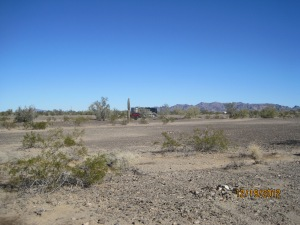 Our camping spot in the desert outside Quartzsite