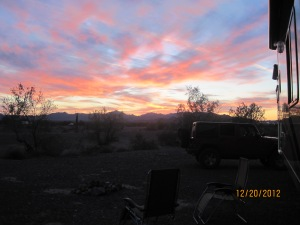 Another nice sunset from our camp spot outside Quartzsite