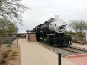 Pivot Point Plaza where the first train entered Arizona in 1877