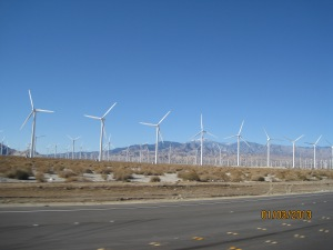 Wind turbins on hwy 111 outside Palm Springs Ca.