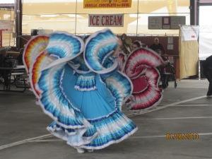 Dancers at a open air market in Yuma