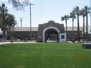 The entry gate to the prison.
