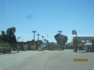 Border crossing at Lukeville Arizona