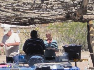 Diane ordering Indian fry bread