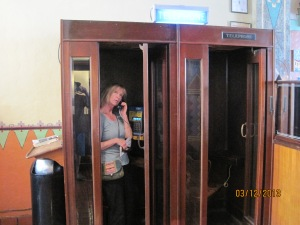A telephone booth in the Congress Hotel in old town Tucson