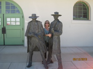 Doc Holliday and Wyatt Earp oh and Diane!! By the Transpotation Museum in Tucson Arizona