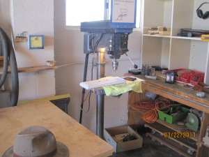 Theres out light on the drill press