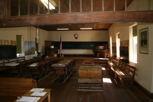 Inside the schoolhouse / museum built in 1904