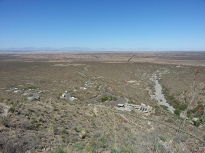 View of the campground from partway up Dog Trail