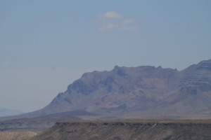 Do you see a face in the mountain?? Diane saw one and thought it was cool