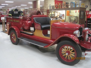 1928 Chevrolet Chemical Hose Truck. This was Fort Cobb Oklahoma's first piece of motorized fire apparatus. In service from 1928 to 1941