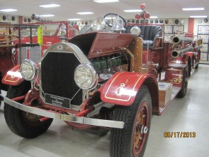 1919 Seagraves Pumper. It's a triple combination pumper meaning it carried water, hose and a pump.