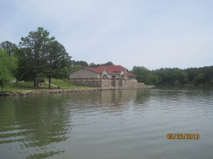 The visitor center on Lake Dardanelle