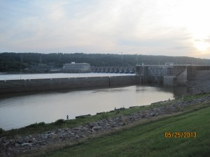 The locks on the Arkansas River