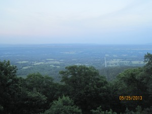 A view from the top of the Mt Nebo at 1800 ft. Thats tall for these parts.