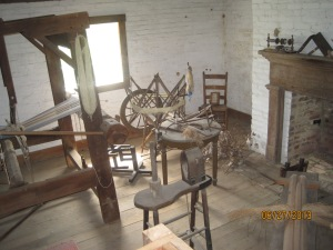 One of the 4 rooms in the slave house where one entire family would live.