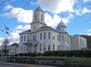 The Lewis County Courthouse built in 1886 to replace the one that burned down