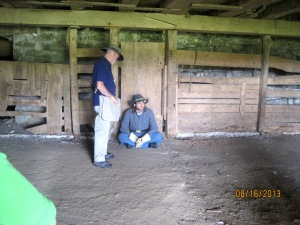 A actor at the Spangler Farm portraying a wounded soldier.
