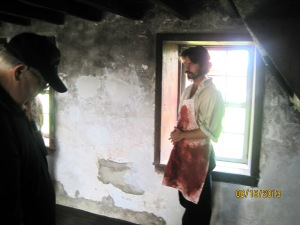 A actor at the Spangler Farm portraying a surgeon