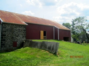 The barn at the Spangler Farm. The farm dates to 1863 and served as a field hospital. Than barn and the ground around it was filled with injured and dead soldiers at one time.