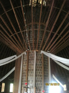 Up in the loft of the Round Barn. This thing is well built!!