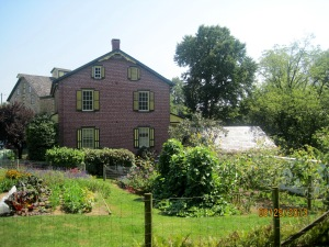 The Ressler house with the mill in the background