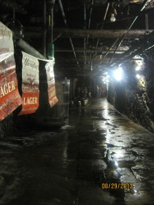 Under the brewery are a number of tunnels like this leading to storage area's.