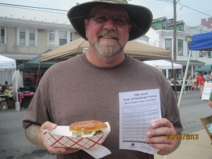 Me and my burger!! And my voters form.