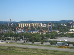 The Hershey Amusement Park with the old Hershey Factory in the background