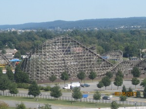That's a wooden rollercoaster at the Hershey Amusement Park