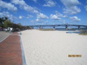 The beach in front of Yorktown Va.