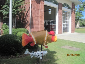 This fish was in front of the Fire Dept. in Roanoke Rapids