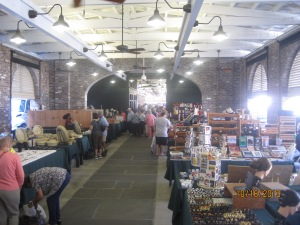 Inside one of the buildings at the Market