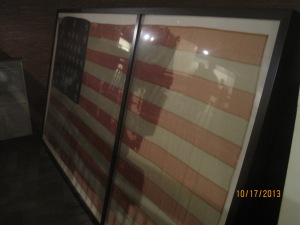 This 10' x 20' flag flew over the fort during the bombardment of April 12th and 13th 1861.