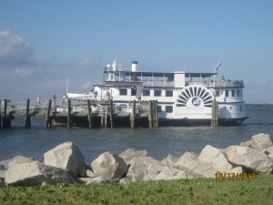 This is the boat we rode out on.