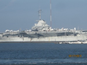 This is the USS Yorktown on Patriot Point. We will probably go over and tour it while here.