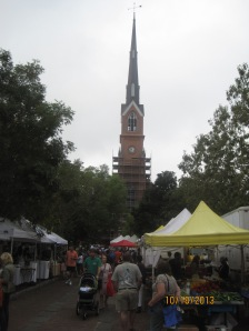 Just a small area of the farmers market
