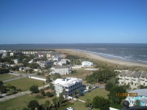 A shot from the top of the Lighthouse