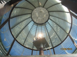 Looking up at the dome of the Lighthouse
