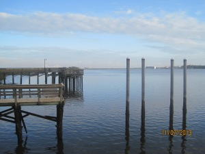 A shot of the pier right outside our campground on the South Brunswick River