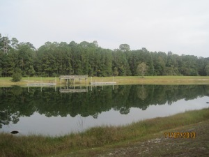 A small lake in our campground