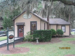 There are a few small shops in the Historic District of Jekyll Island. They used to be homes for the employee's of the millionaires that owned cottages on the island.