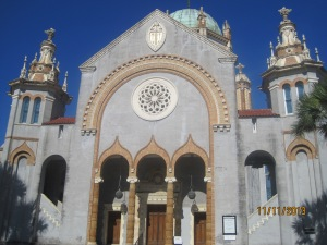The front of the Flagler Memorial Presbyterian Church
