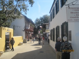 An 11-block stretch of shops, restaurants and historic sites. No need to worry about traffic because there is none since this area is a designated walking mall. On old St. George Street, in the heart of historic St. Augustine, neat little shops, museums, historic buildings and interesting views are on every corner.