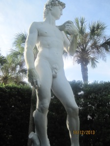 "An exact replica of Michelangelo's ""David,"" an 18-foot tall hand-carved marble statue weighing 20,000 pounds has made its way to Castle Warden, home of Ripley's Believe It or Not! The Statue of David. It is one of only two in the world carved as the original was - from a solid piece of pure Carrara Marble quarried from Pietra Santa in Tuscany, Italy. It's the same quarry where Michelangelo acquired the marble for his masterpiece."