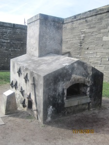 This is a Hot Shot Furnace for heating a cannon ball so when it is shot at a wooden ship it would set it on fire.