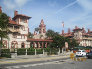 Flagler College, built by Flagler a Spanish Renaissance architecture building situated on the grounds of the original Ponce de Leon Hotel. The hotel was built in 1888 and was known for its opulent setting and luxurious amenities and being the winter playground for the rich and famous.